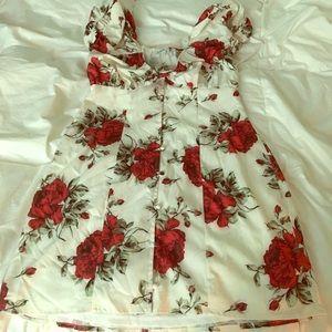 Lovely rose dress .